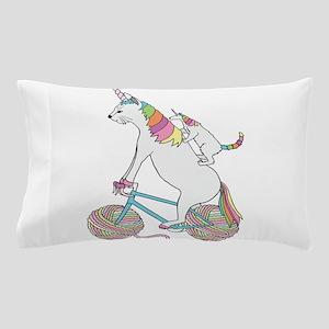 Cat Unicorn Riding Unicorn Cat Who's R Pillow Case