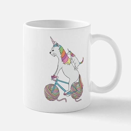 Cat Unicorn Riding Unicorn Cat Who's Riding A Mugs