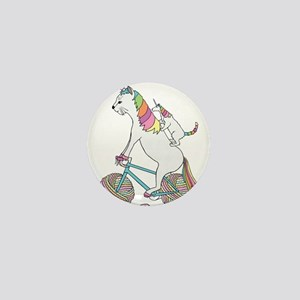 Cat Unicorn Riding Unicorn Cat Who's R Mini Button