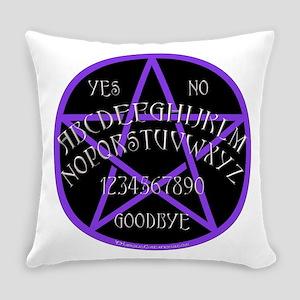 PurplePentagramDwhite Everyday Pillow