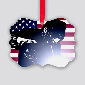 Welding: Welder & American Flag Ornament