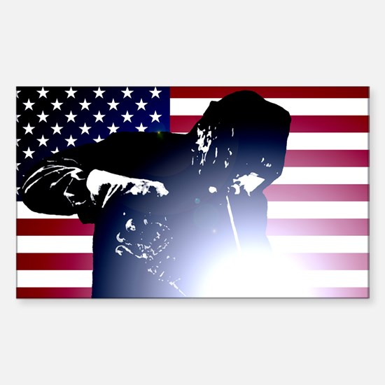 Welding: Welder & American Flag Decal