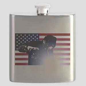 Welding: Welder & American Flag Flask