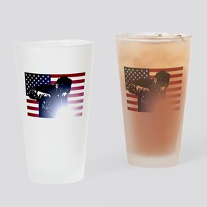 Welding: Welder & American Flag Drinking Glass