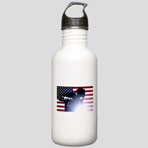 Welding: Welder & American Flag Water Bottle