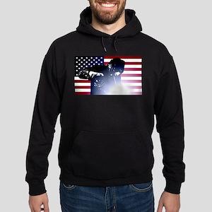 Welding: Welder & American Flag Hoodie