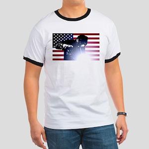 Welding: Welder & American Flag T-Shirt