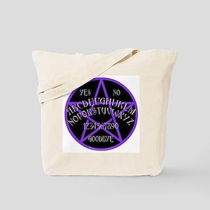 PurplePentagramDwhite Tote Bag
