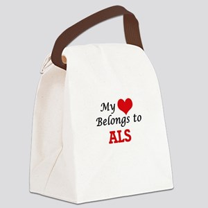 My Heart Belongs to Als Canvas Lunch Bag