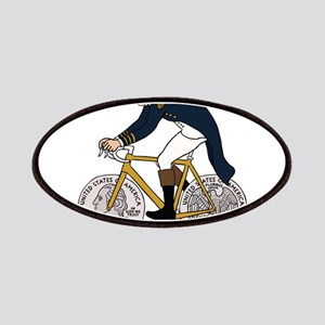 George Washington On Bike With Quarter Wheel Patch