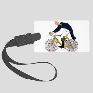 George Washington On Bike With Q Large Luggage Tag