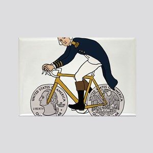 George Washington On Bike With Quarter Whe Magnets