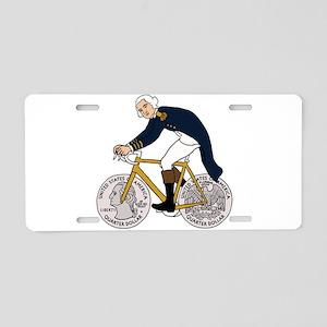 George Washington On Bike W Aluminum License Plate