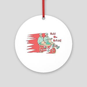 Recumbent Bike Round Ornament