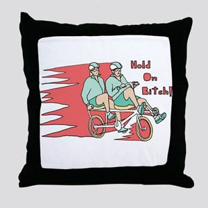 Recumbent Bike Throw Pillow