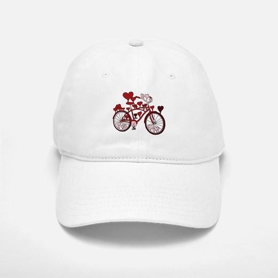 Bike Hearts Baseball Baseball Cap