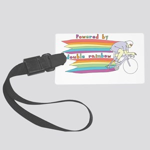 Powered By Double Rainbow Large Luggage Tag