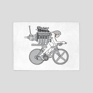 Bicycle Motoring 5'x7'Area Rug