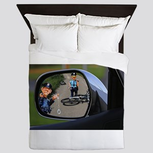 Rear-view Bicycle Accident (Man) Queen Duvet