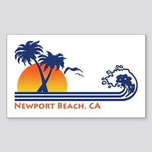 Newport Beach CA Sticker (Rectangle)