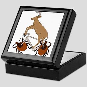 Deer Riding Bike With Deer Tick Wheel Keepsake Box