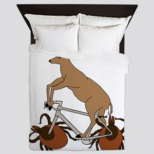 Deer Riding Bike With Deer Tick Wheels Queen Duvet