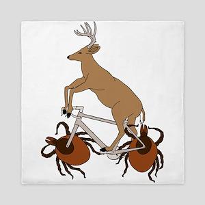 Deer Riding Bike With Deer Tick Wheels Queen Duvet