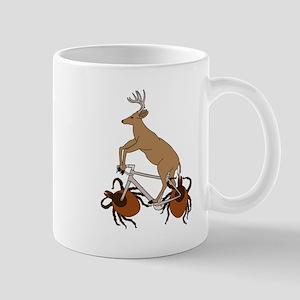 Deer Riding Bike With Deer Tick Wheels Mugs