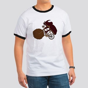 Dung Beetle Riding Bike With Dung Wheel T-Shirt