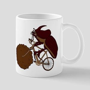 Dung Beetle Riding Bike With Dung Wheel Mugs