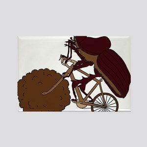 Dung Beetle Riding Bike With Dung Wheel Magnets