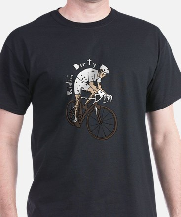 Cyclocross Rider Riding Dirty T-Shirt