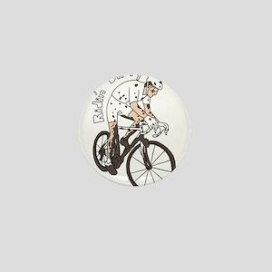 Cyclocross Rider Riding Dirty Mini Button