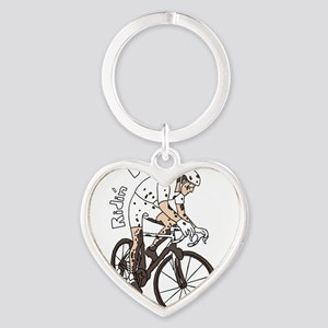 Cyclocross Rider Riding Dirty Keychains