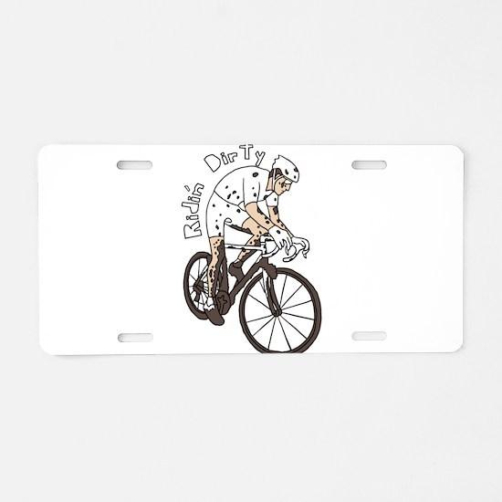 Cyclocross Rider Riding Dir Aluminum License Plate