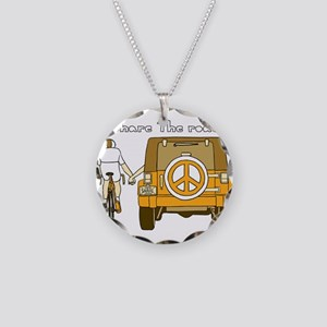 Share The Road Necklace Circle Charm