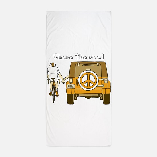 Share The Road Beach Towel
