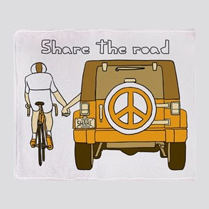 Share The Road Throw Blanket