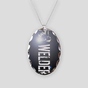 Welding: Stick Welder Necklace Oval Charm