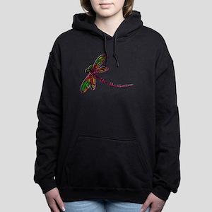 Kaleidoscopic Dragonfly Women's Hooded Sweatshirt