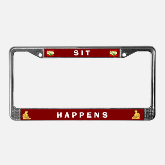 Sit Happens #1 License Plate Frame