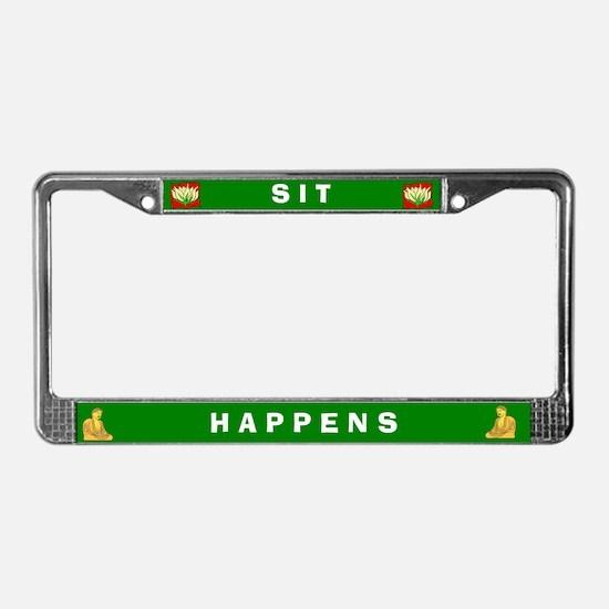 Sit Happens #2 License Plate Frame
