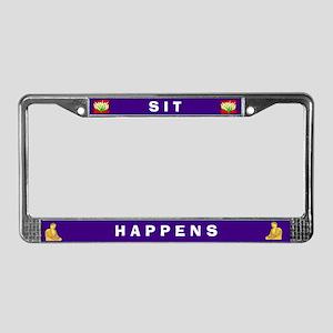 Sit Happens #3 License Plate Frame
