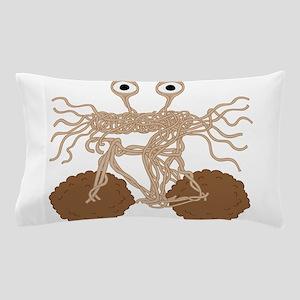 Flying Spaghetti Monster On Bike W/ Me Pillow Case
