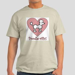 Poodle-rific! Ash Grey T-Shirt
