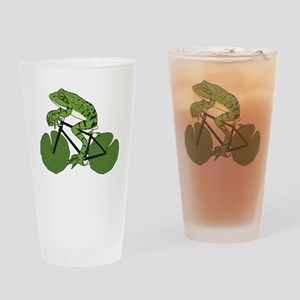 Frog Riding Bike With Lily Pad Whee Drinking Glass