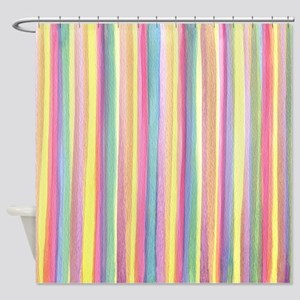 Watercolor Stripes Shower Curtain