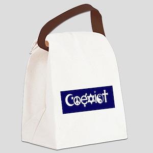 coexist design Canvas Lunch Bag