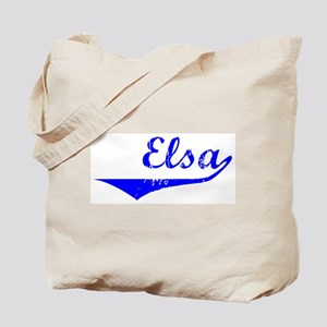 Elsa Vintage (Blue) Tote Bag