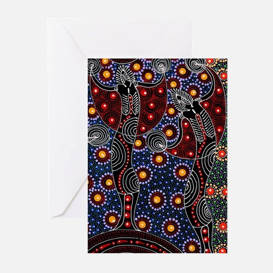 AUSTRALIAN ABORIGINAL FERTILITY ART 2 Greeting Car